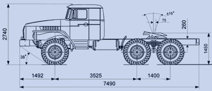 седельного тягача 44202